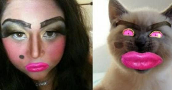 step away from the makeup 20 crazy makeup disasters thedailybuzz