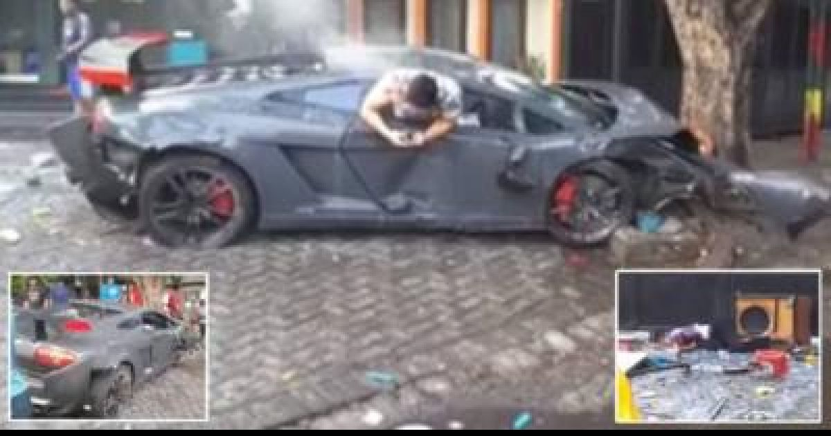 Race Between Ferrari And Lamborghini Ended In A Terrifying Incident