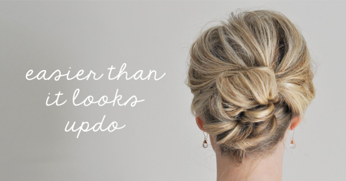 Super Easy Updo Hairstyles Tutorials Thedailybuzz