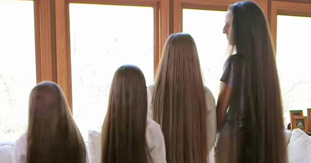 Mom And 3 Daughters Show Off Their Hair. When The Camera Zooms Out, My Jaw Drops...