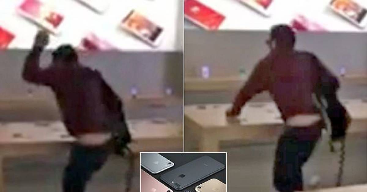 Man Walks Into Apple Store And Calmly Smashes Up Every iPhone In Sight