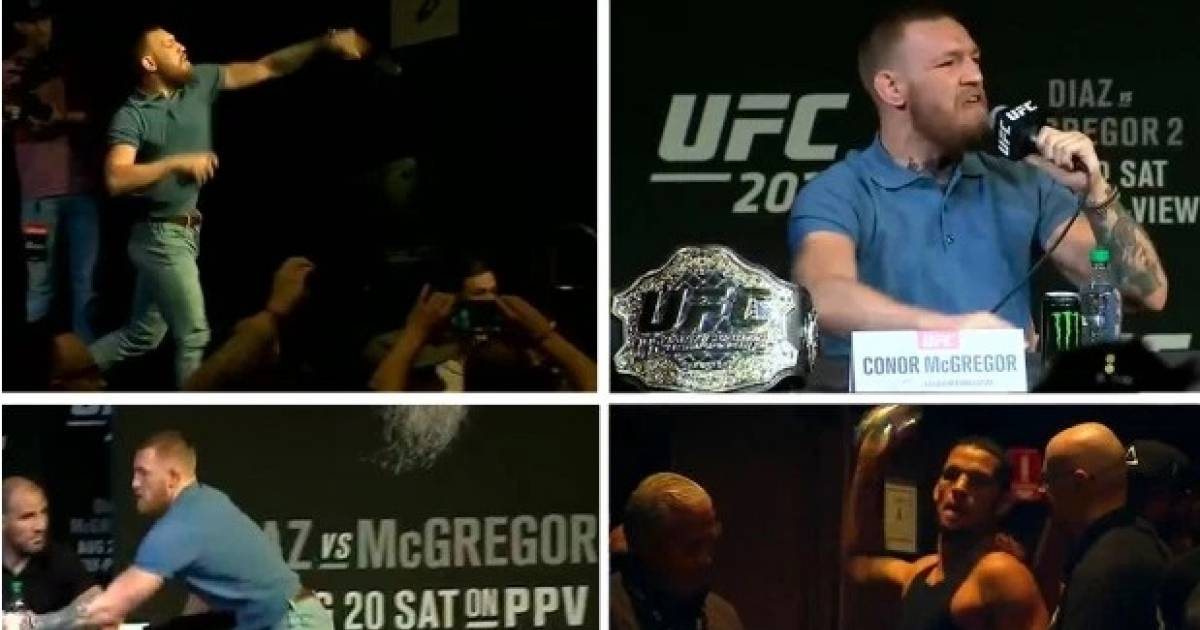 Conor Mcgregor Hit With $150,000 Fine After Bottle-throwing Incident At UFC 202 Press Conference