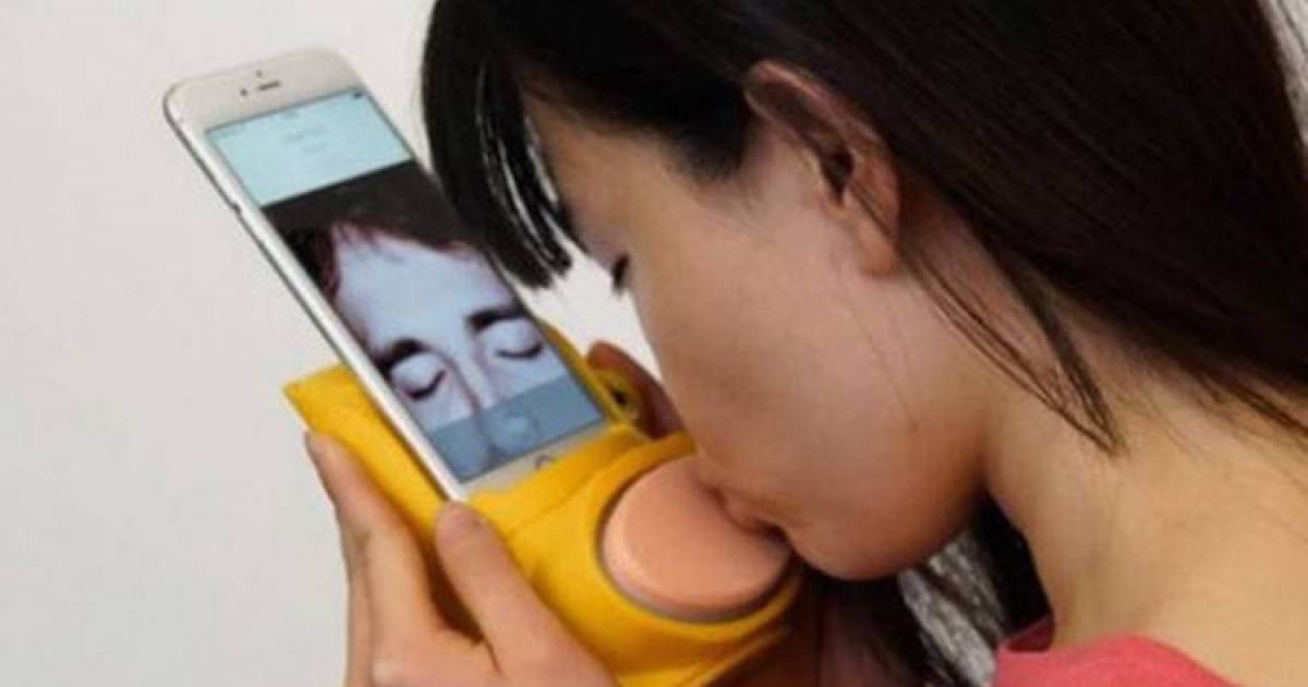 Weird Gadget Lets You Send Actual Kisses Through Your iPhone