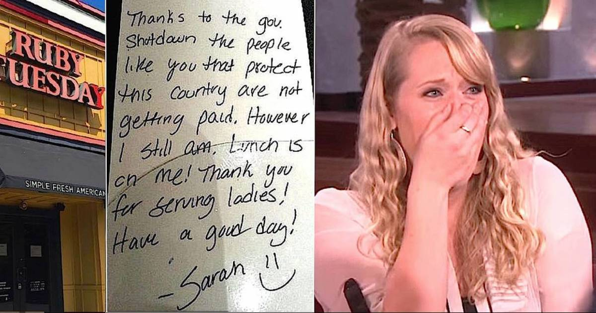 Waitress Pays Struggling Soldier's Tab, But When Ellen Stands Up To Praise Her, She's Stunned