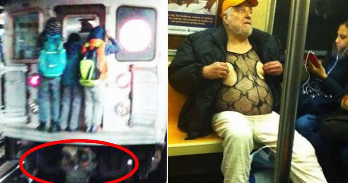 15 Creepiest Photos Ever Captured On The Subway