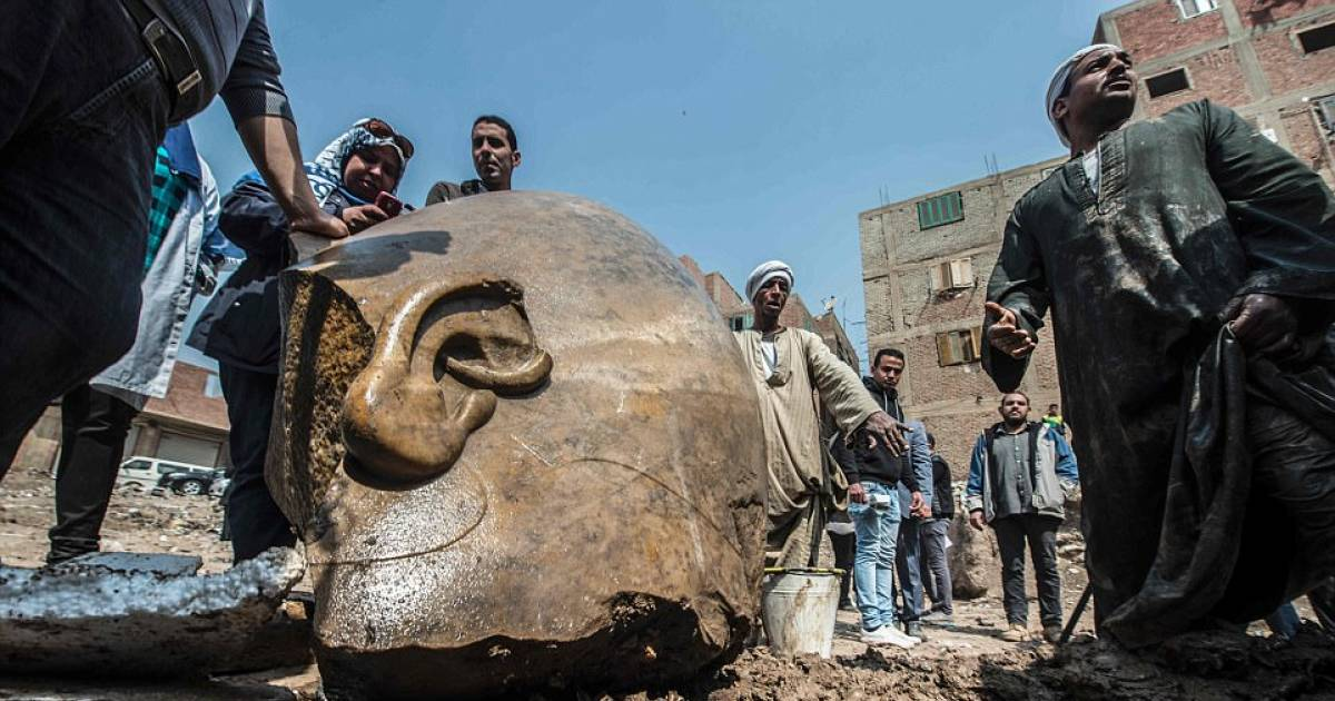 Giant Statue Of Pharaoh Ramses Ii Has Been Found Buried In A Slum In Cairo