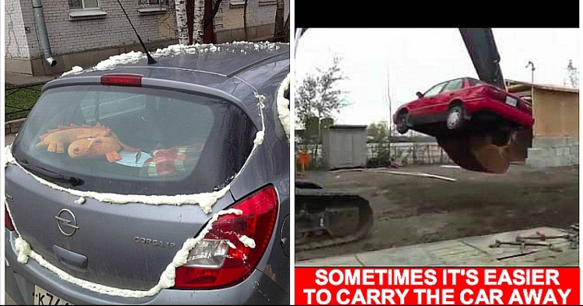 Terrible Parking Jobs That Got Exactly What They Deserved