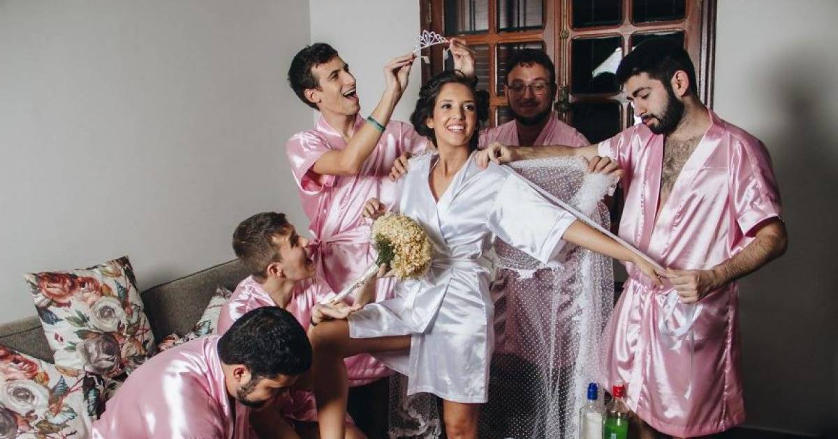 Bride Who Does Not Have Any Girlfriends Gets Her Bros To Be Her Bridesmaid