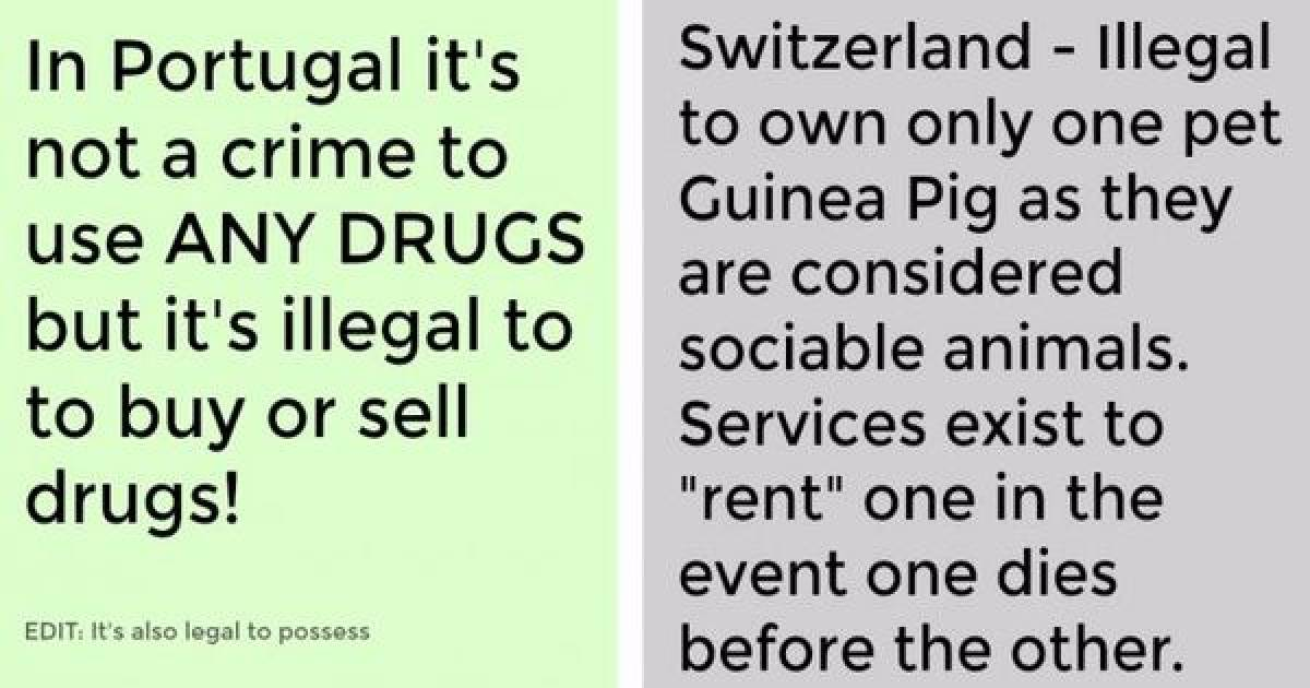 Weird Laws That Could Cause You To Be Arrested Without You Even Knowing Why.