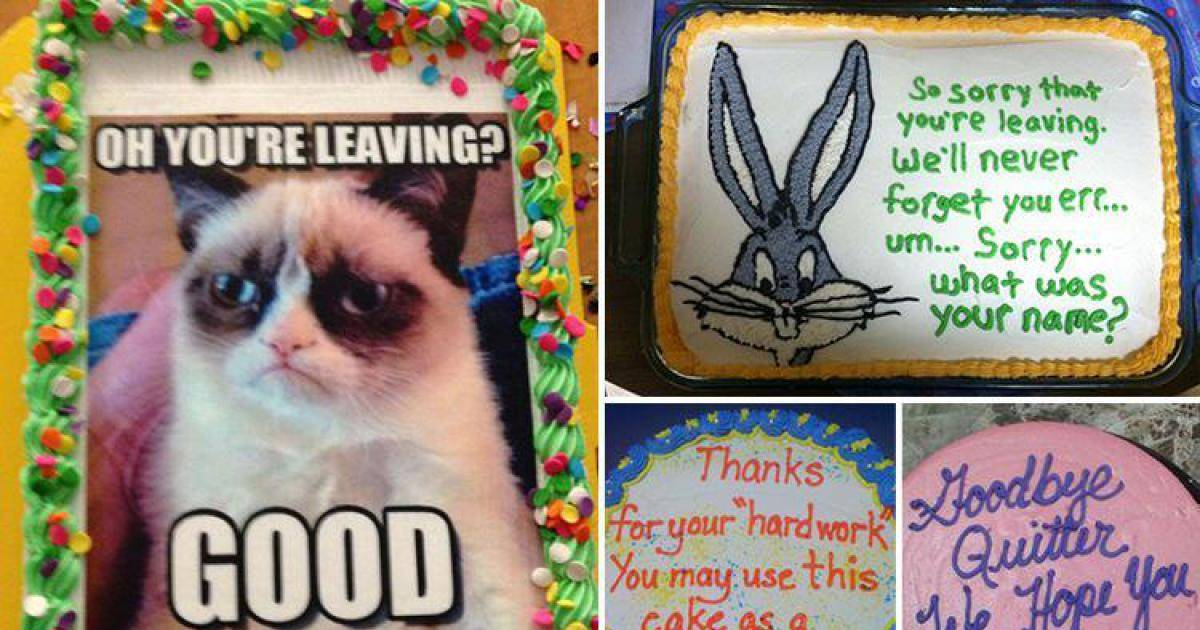 These Are The Rudest Goodbye Cakes You Will Ever See