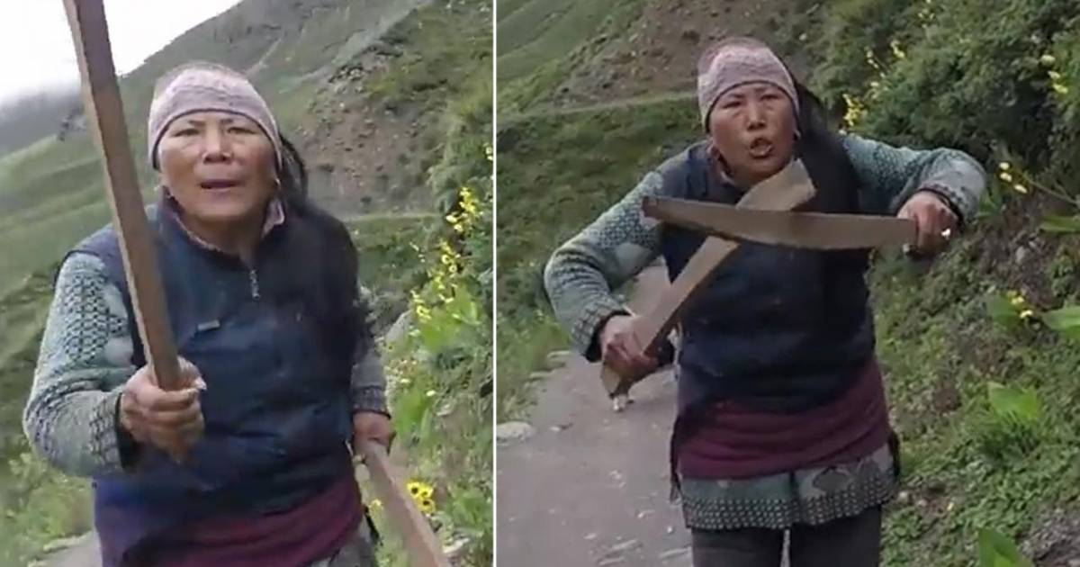 Nepalese Woman Chases British Tourists With Wooden Clubs After Complaining About Her Black Tea