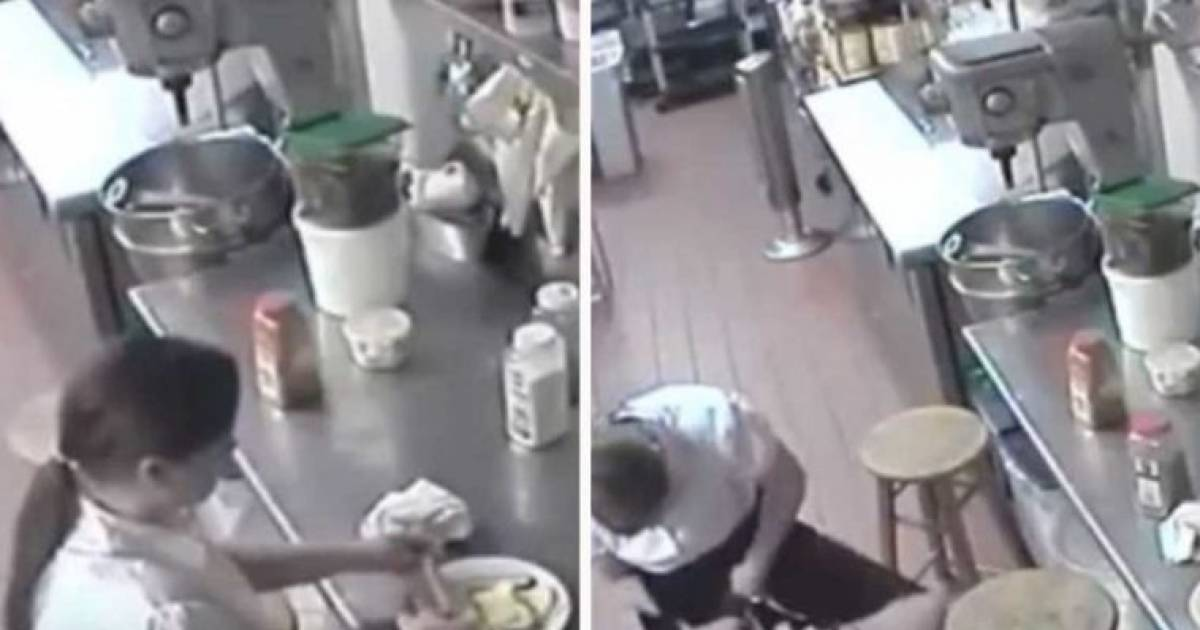 CCTV Footage Shows Waitress Using Customer's Hotdog As Tampon Before Serving It