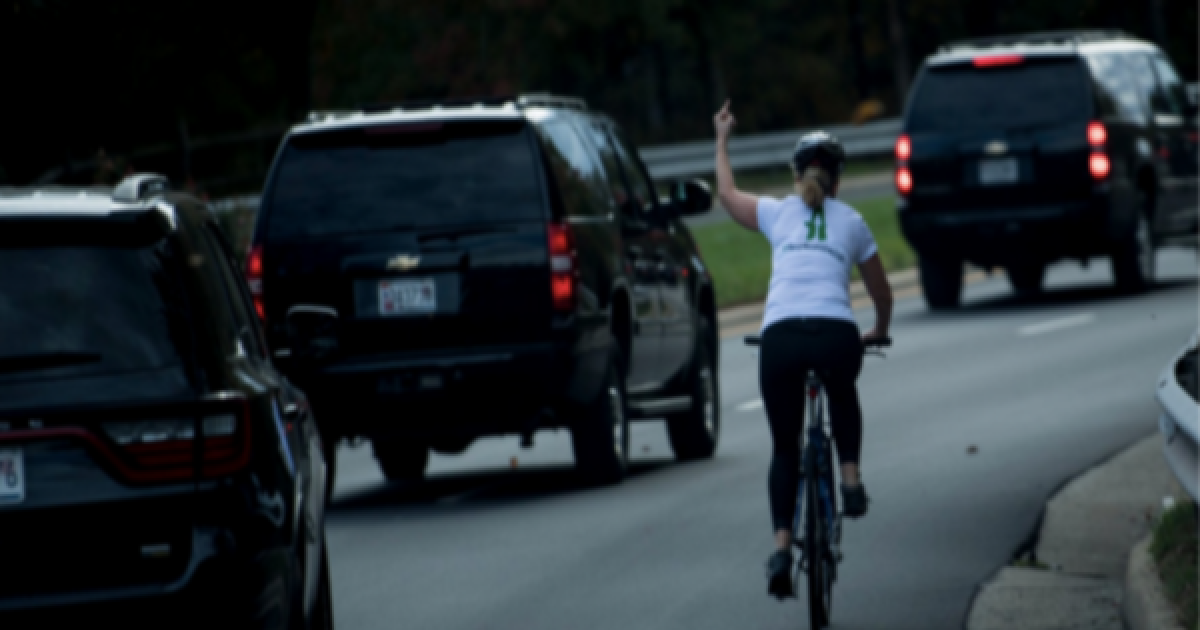 Woman Photographed Flipping Off President Trump's Motorcade Gets Fired From Her Job