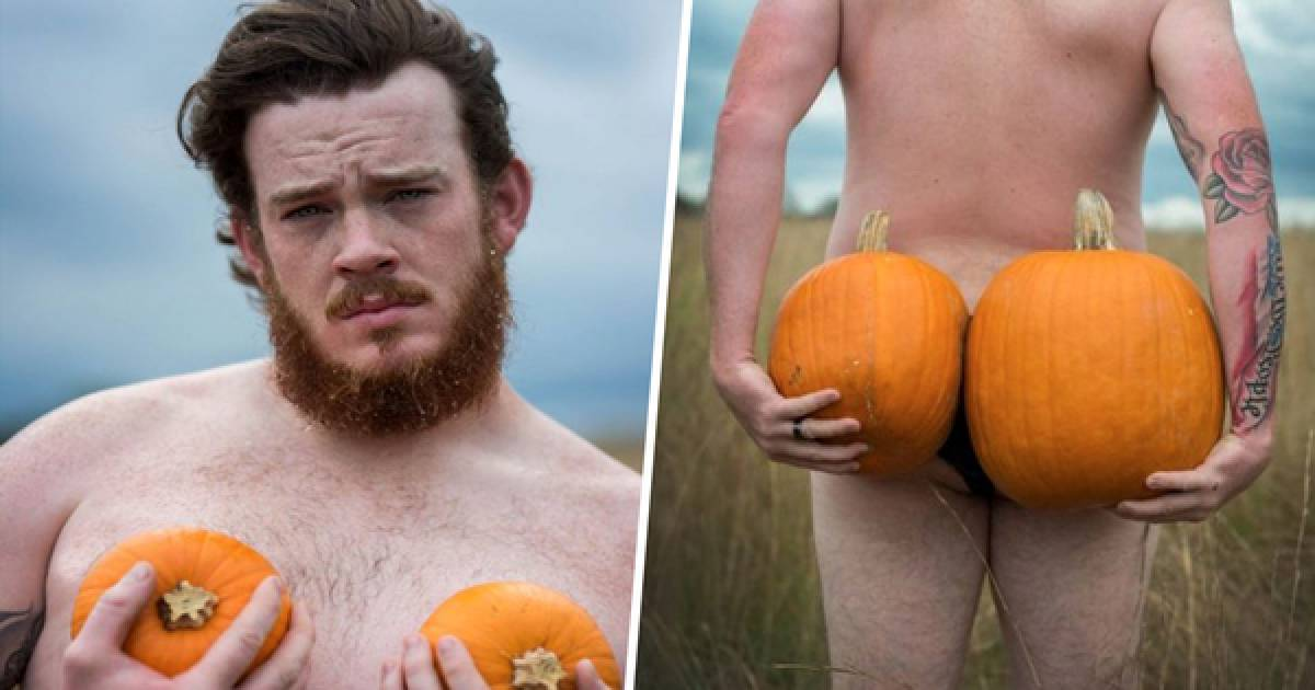 """Husband Takes Absolutely Hilarious """"Sexy"""" Photoshoot In A Pumpkin Patch And We Can't Stop Laughing."""