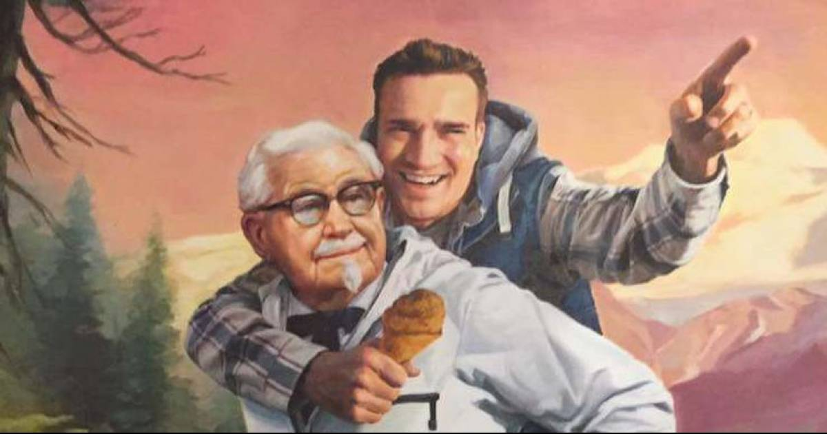 KFC Made A Portrait For The Guy Who Noticed They Only Follow 11 Herbs And Spices On Twitter