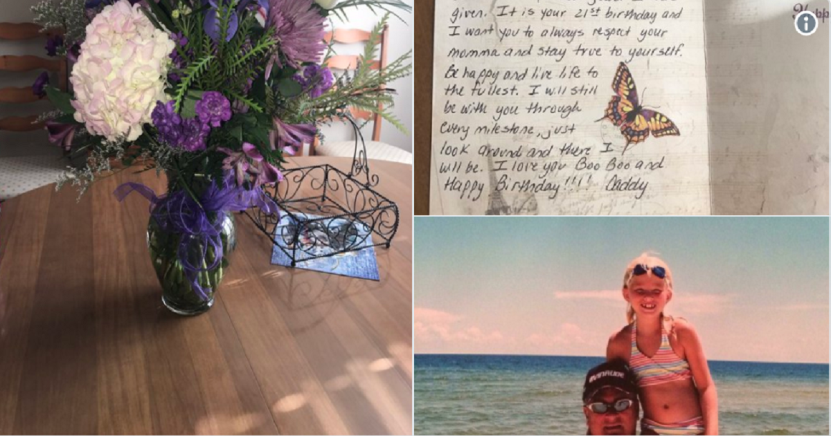 Girl Receives Heartwarming Gift From Her Father Who Died 5 Years Ago.