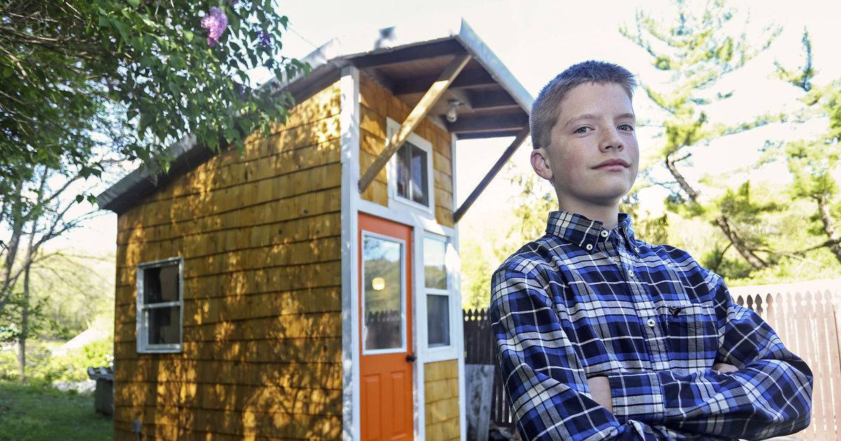 13-Year-Old Builds His Own Tiny House In His Backyard And Only Spent $1,500!
