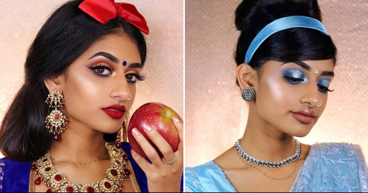 You Won't Believe How This Indian Model And Makeup Artist Recreates Disney Princesses On Instagram Leaving Us Awe-Struck!