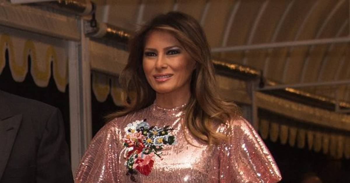 Melania Trump Stole The Show At The Official White House New Year Eve's Party With Her $5000 Dress And You Have To See It
