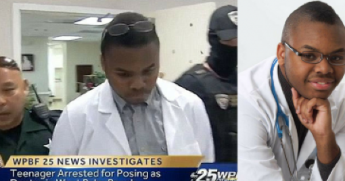 Florida Teen Pretends To Be A Doctor And Gets Three-And-A-Half Years In Prison For It