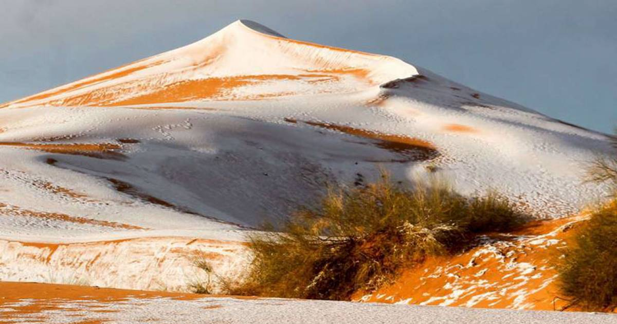 The Sahara Desert Goes White Again And The Pictures Are Insanely Awesome