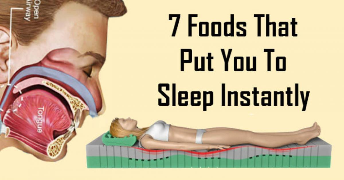 7 Foods That Can Instantly Put You To Sleep
