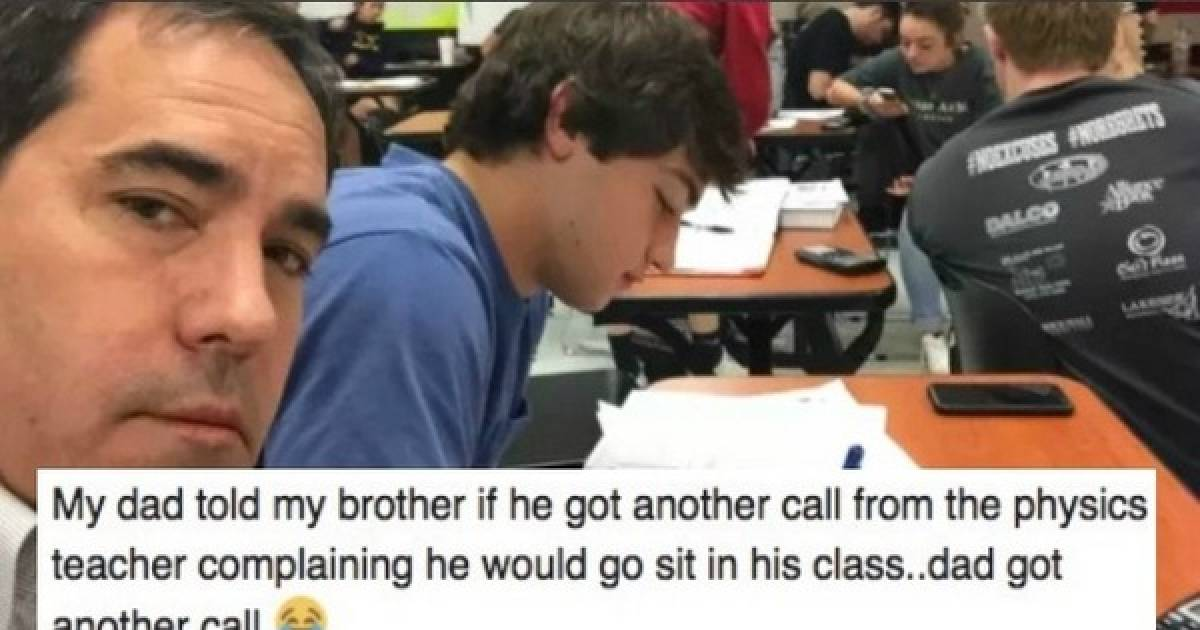 Teen Keeps Acting Up In Class, So His Father Shows Up To Teach Him A Lesson