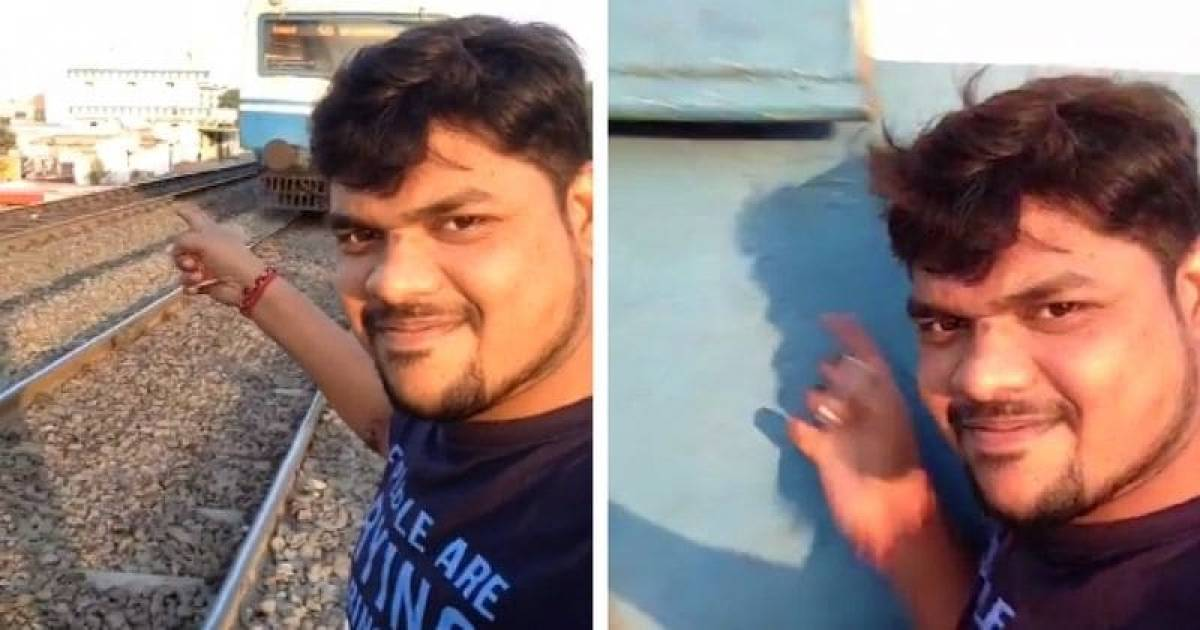 A Man Trying To Capture A Perfect Selfie With Oncoming Train Gets Hit