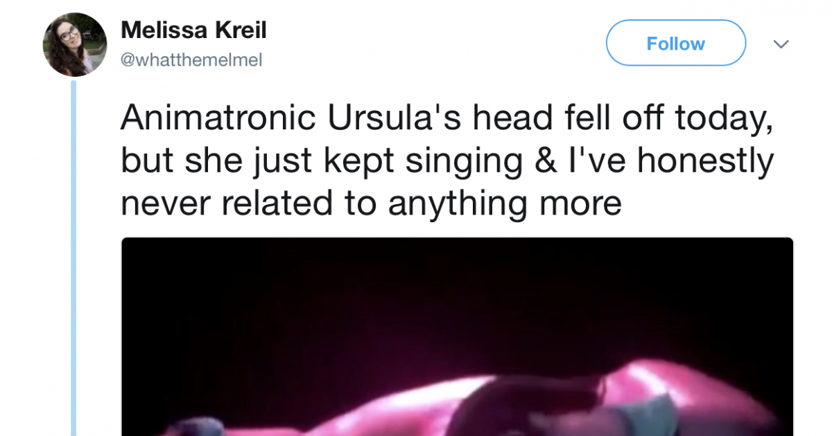 Ursula's Head Fell Off At Disneyland And The Internet Had A Field Day With It
