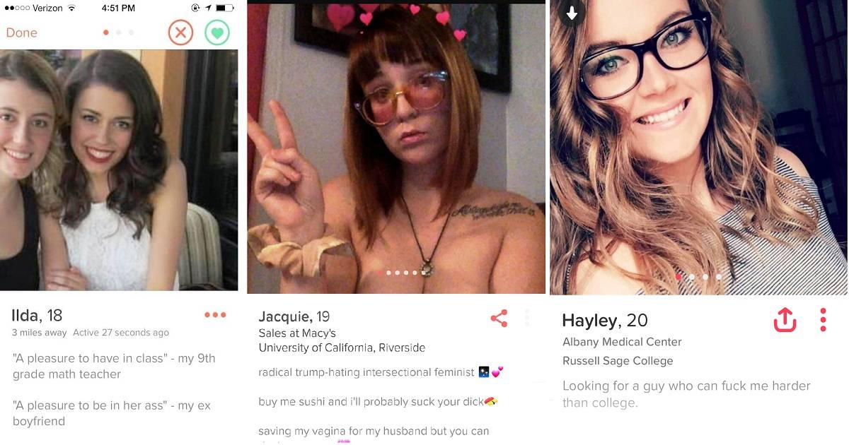 Shameless Girls On Tinder With Their Bizarre Dating Profiles