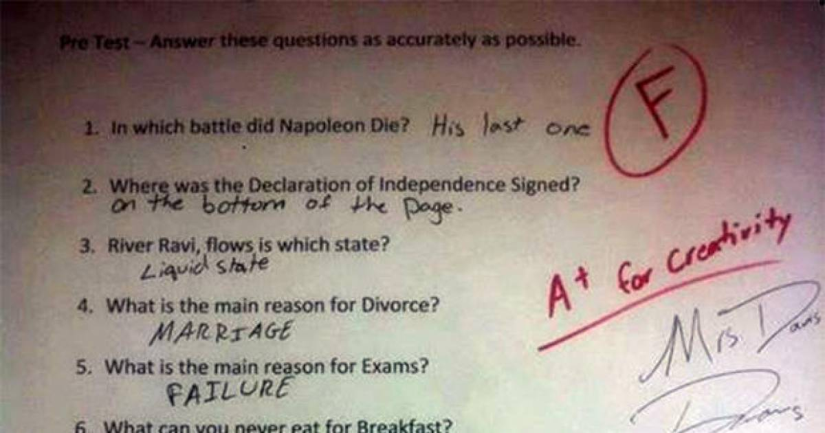 These Could Possibly Be The Funniest Exam Answers Of All Time