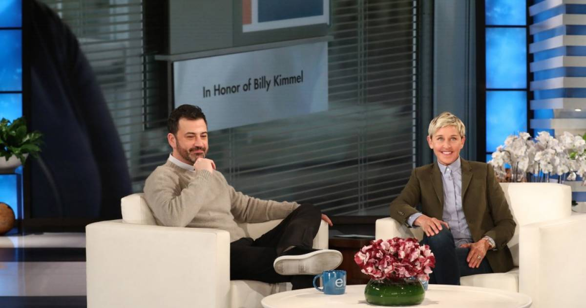 Ellen DeGeneres Brings Jimmy Kimmel To Tears On Her Show By Hitting Kimmel With A Heart Warming Surprise