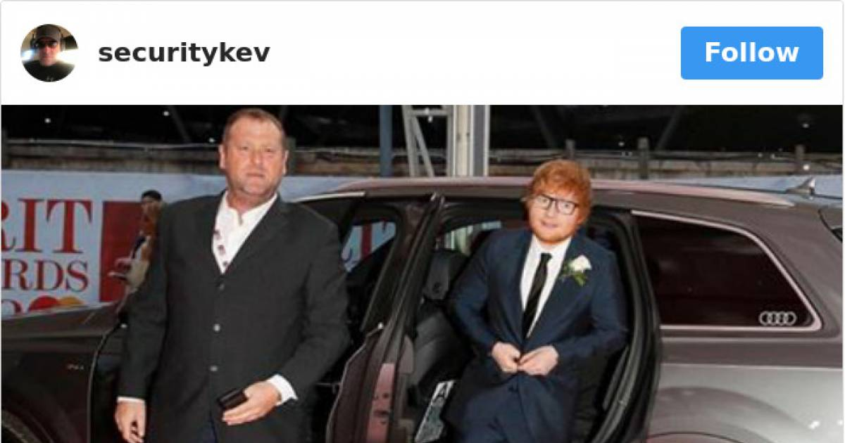 Ed Sheeran's Security Guard Has Stolen The Show With His Hilarious Instagram Posts
