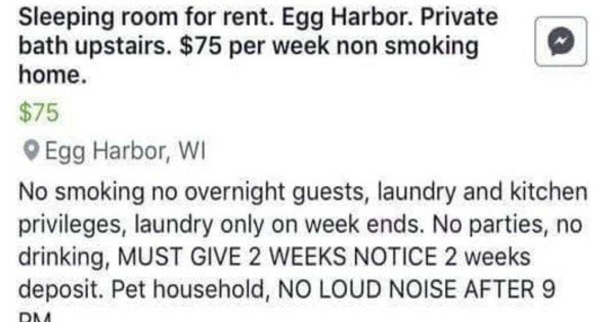 This Lady Is Trying To Rent Out A Room, But Her Rules Are Ridiculous, And The Internet Is Letting Her Know It