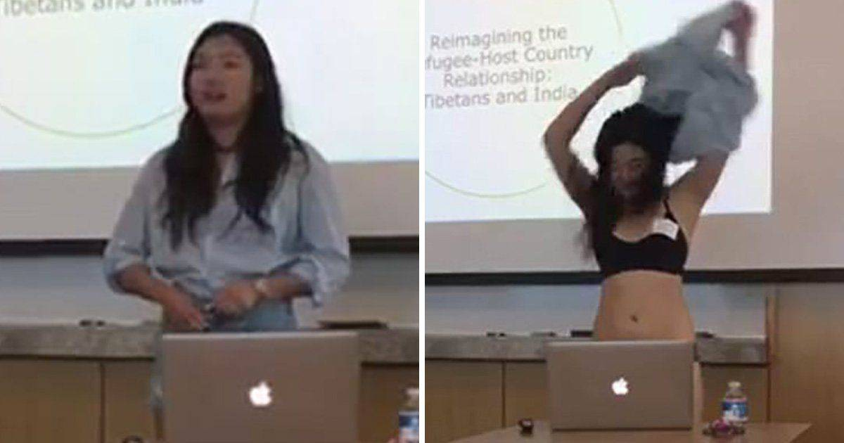 Ivy League Student Strips Down To Her Underwear After Professor Questions Her Shorts