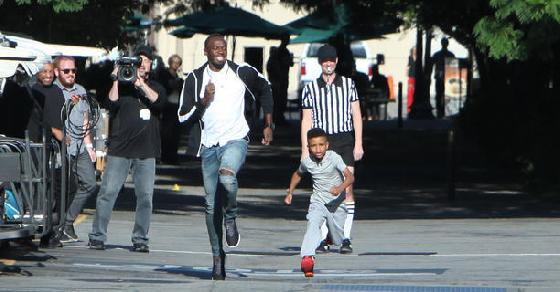 Olympic Gold Medalist Usain Bolt Loses A Race With 8-Year-Old Demarjay Smith On Ellen