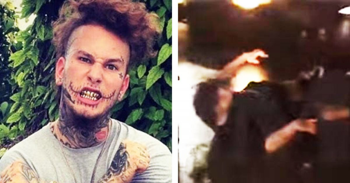 """Rapper """"Stitches"""" Gets Knocked Out After Running Up On The Games Entourage"""