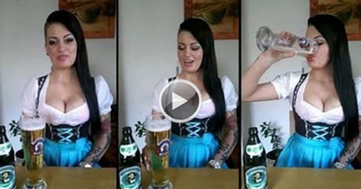 She Chugs Beer Like A Champ, But What She Does Next? We're In Love...