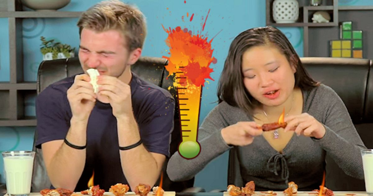 These People Took The Hot Wing Challenge And The Results Are Zippy