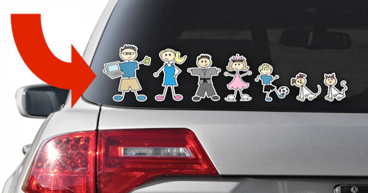 If You've Ever Considered Getting Family Stickers For Your Car, You Need To Know THIS
