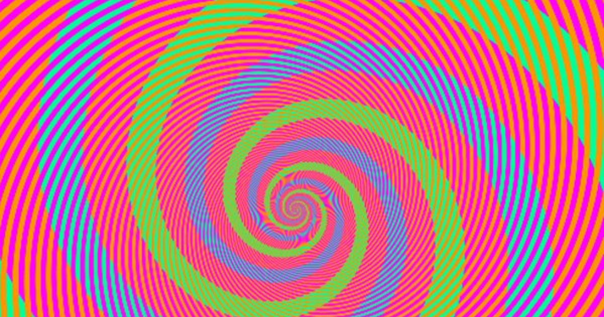 Can You Tell How Many Colours Are In This Spiral Optical Illusion?