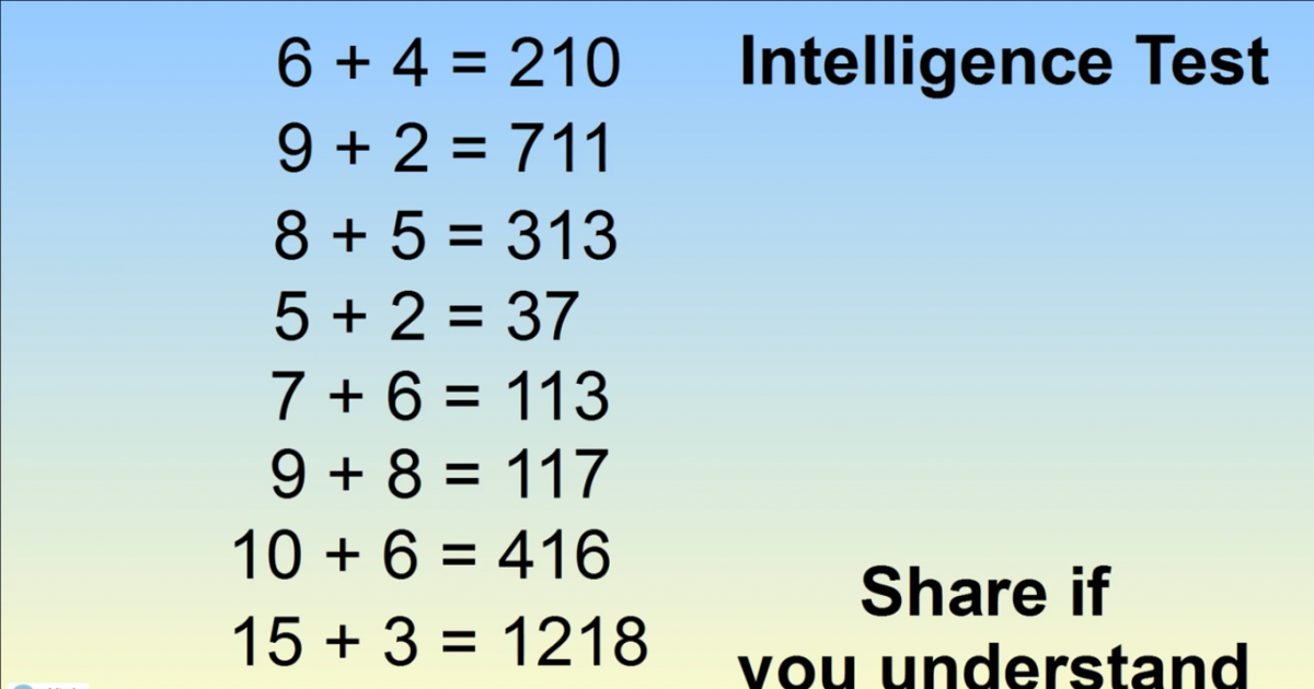 Can You Solve This Crazy Intelligence Test Puzzle?