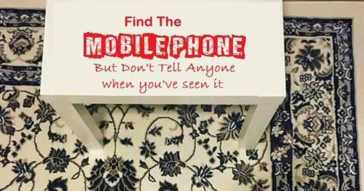 People Can't Find The Mobile Phone On This Rug And It's Really Stressing Them Out