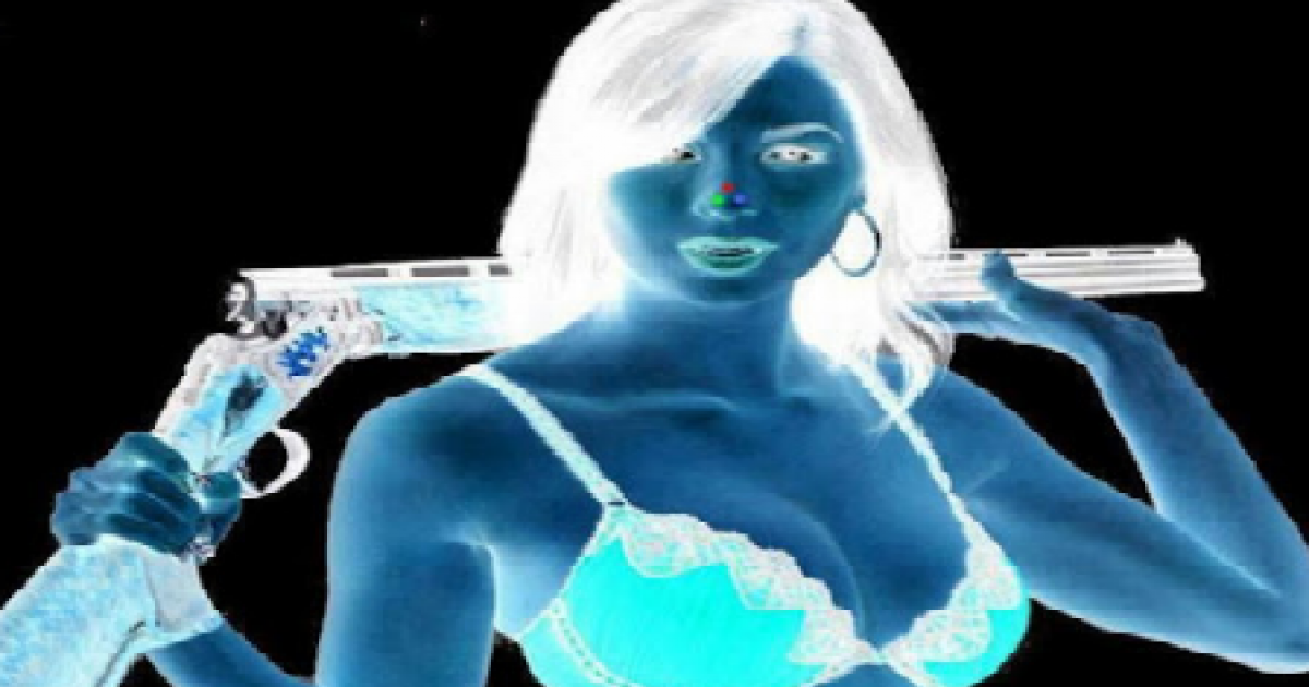 Stare At The Red Dot On Her Nose For 30 Seconds Then Look At A Plain Wall And Blink Really Fast! Omg!