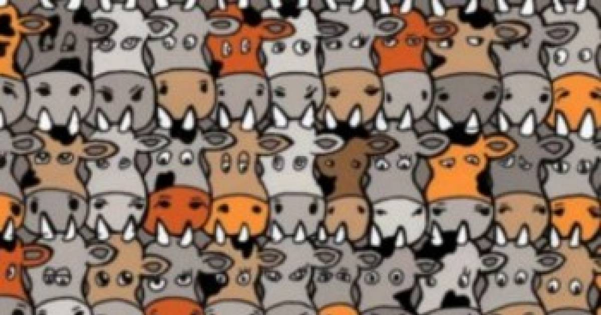 Can You Find The Dog Hidden Among The Cows? Most People Can't.
