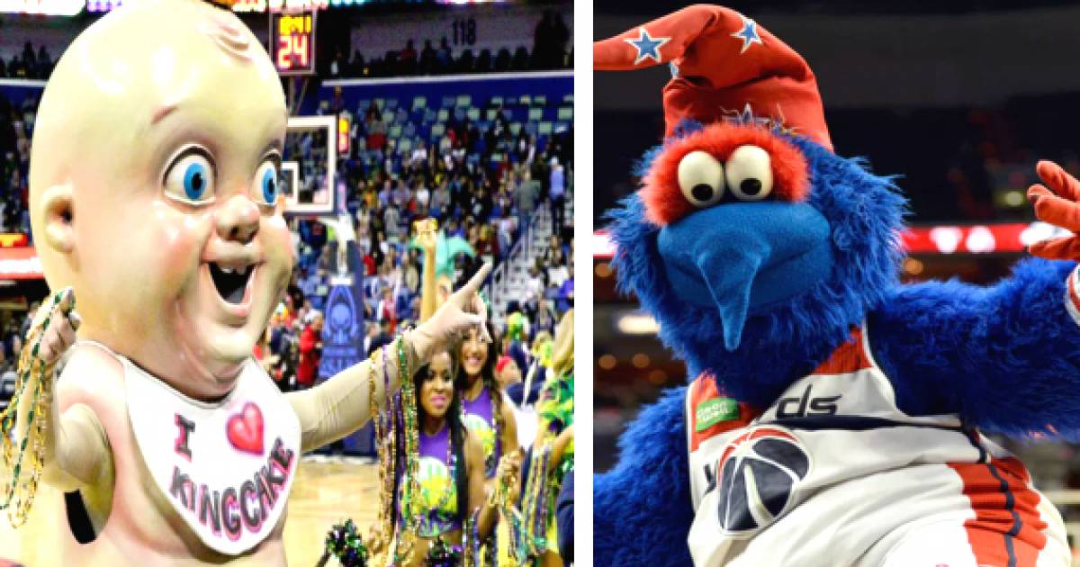 The 10 Most Terrifying Mascots In NBA History