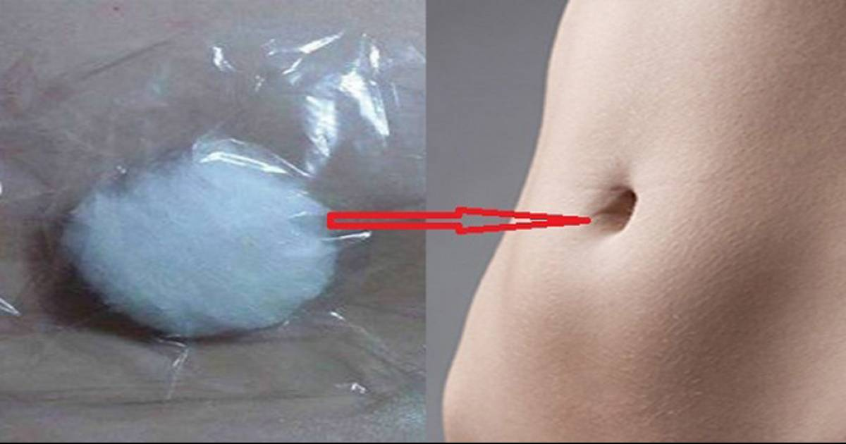 Soak A Cotton Ball In Alcohol, Put It In Your Navel And Get Rid Of Cough, Cold, Abdominal And Menstrual Pain!