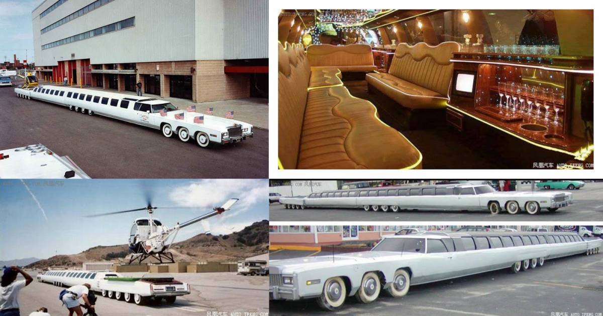 Checkout The World's Longest Car Which Has A Helipad And Swimming Pool