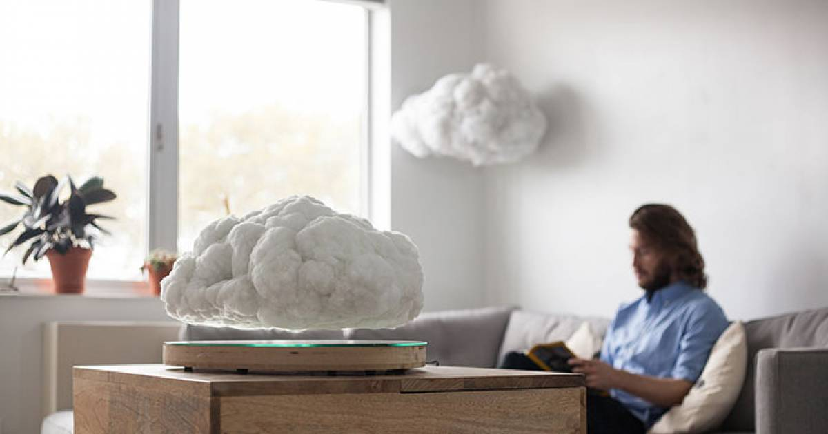 This Levitating Storm Cloud Is Actually A Bluetooth Speaker