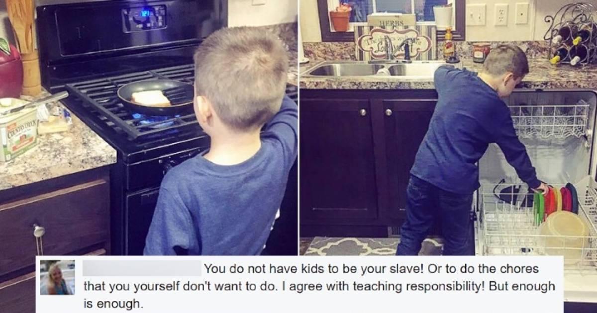 Mom helps son with hardon